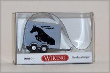 Wiking 0066 04 Horse Trailer 2 axle Turner-Pferde 1:87 HO scale gray/black