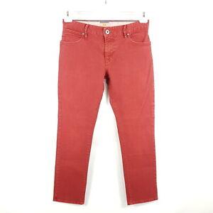 Hugo-Boss-Jeans-Orange24-Barcelona-Herren-W32-L32-Rot-Slim-Straight-Stretch