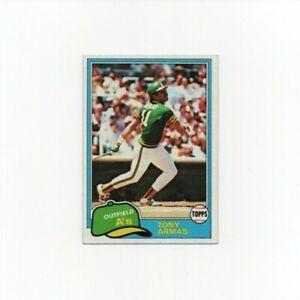 1981 Topps Tony Armas Baseball Card #629 - Oakland Athletics HOF