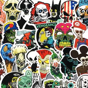 50 retrosticker Stickerbomb skull rock Hero Autocollant Sticker Mix Décalques Zombie