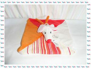 C-Doudou-Semi-Plat-Chien-Souris-Blanc-Rouge-Rose-Happy-Horse-Neuf