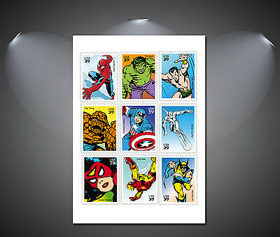 A4 Sizes A2 A3 A1 A0 Vintage Marvel Comic Heroes Collage Poster
