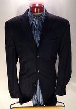 A158 Calvin Klein Navy Pinstripe Men Suit 44L 38W Made in Canada