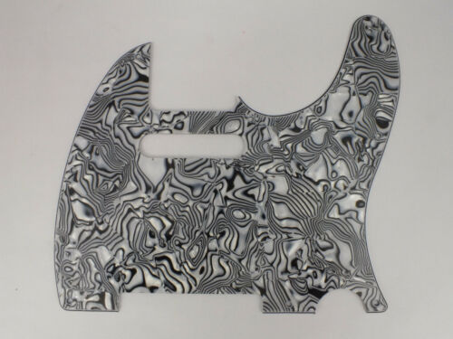 BLACK /& WHITE SHELL effect SCRATCH PLATE Pickguard to fit USA Telecaster guitar