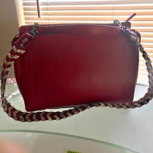 Damen Italienische rot Leder Napoli Schultertasche Vittoria Martine OpwTqT