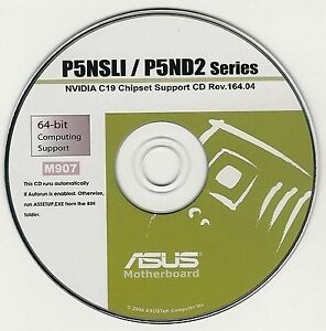 Details about ASUS P5ND2-SLI P5ND2-SLI DELUXE or P5NSLI Motherboard Drivers  Install Disk M907