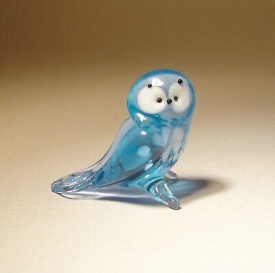 Blown Glass Figurine Hanging Small Blue Bird BLUEBIRD Ornament