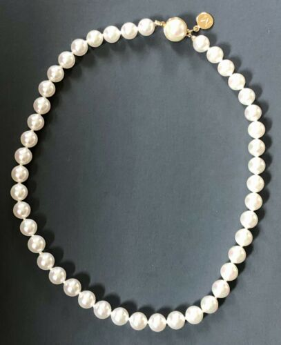Monet pearls faux 925 vintage estate gold plated r