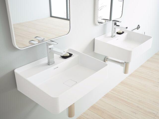 Designer Sink Arezzo Cast Stone Modern Bathroom Wall Mount 23 6