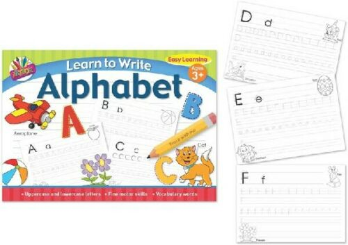 Educational Activity Childrens Learn To Write The Alphabet Letters Age 3