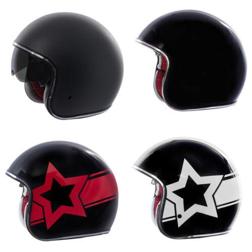 Adult Fulmer Motorcycle Helmet V2B Boulevard Open Face iShade DOT Approved Retro