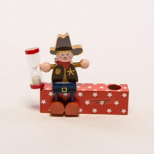 Gisela Graham Cowboy wooden perpetual calendar or toothbrush holder