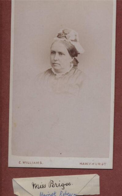 HAWKHURST. Crane Croft. 'Harriet Rebecca Perigoe'  CDV  qe.62