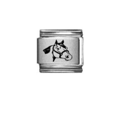 9mm Italian Charm L34  Equestrian Horse Head  Fits Classic Size Bracelet