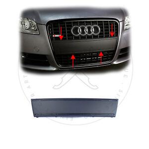 Audi-A4-B7-8E-US-Kennzeichen-Blende-Frontblende-Schwarz-Matt-fuer-S-Line-Grill