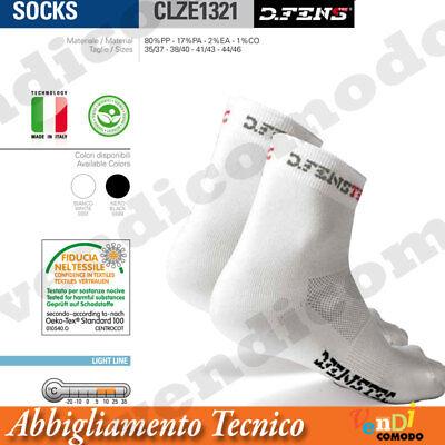 5 25 Tecnico Bike Running Fitness Unisex Audacious Calze Calzini Bianco Dfenstec Termico