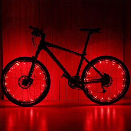 20 LED Cycling Bicycle Bike Rim Lights LED Wheel Spoke Light String Strip LaRS