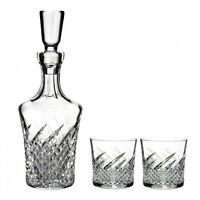 House Of Waterford Crystal Wild Atlantic Way Decanter & 2 Dof Glasses