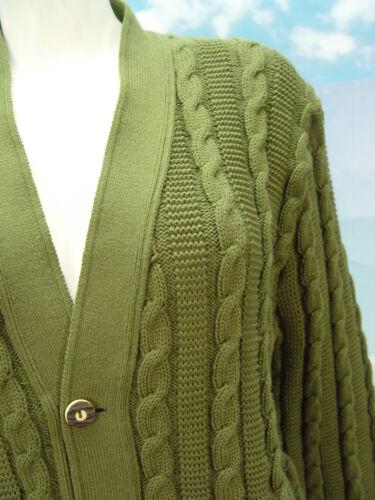 verde a 55 fantasia giacca trecce taglia Trachtenjacke Grande cardigan Janker 6qUBnxU5z