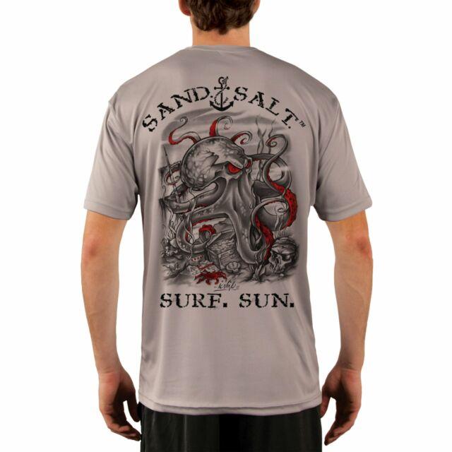 UV//Sun Protection Long Sleeve T-Shirt Key West Octopus Treasure Men/'s UPF 50