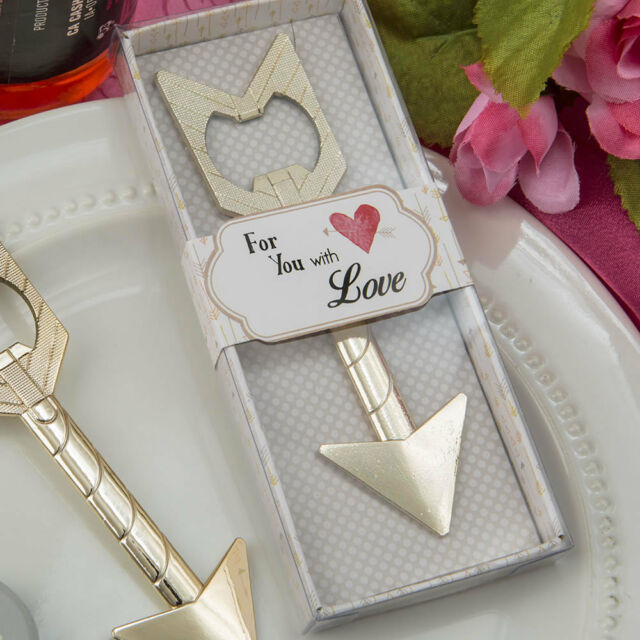 36 Cupid/'s Arrow Gold Metal Bottle Opener Favor wedding favors bridal shower