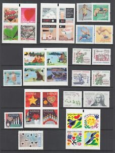 Sweden-Sc-2526-2553-MNH-2006-07-issues-9-complete-sets-fresh-bright-VF