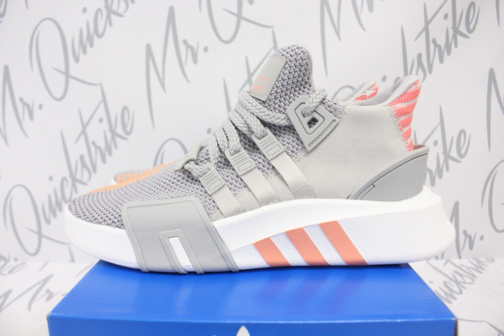 WOMENS ADIDAS ORIGINALS EQT BASKETBALL ADV SZ 6 GREY WHITE CORAL AC7351