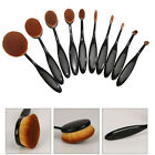 10pcs Toothbrush Shaped Foundation Power Makeup Oval Cream Puff Brushes Set