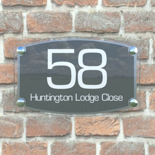 8WA Large House Sign Plaques Door Numbers 1-99999 Personalised Wall Address