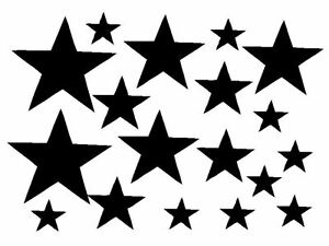 STAR-STICKERS-vinyl-DECAL-car-LAPTOP-wall-WINDOW-tile-WHEELIE-BIN-van