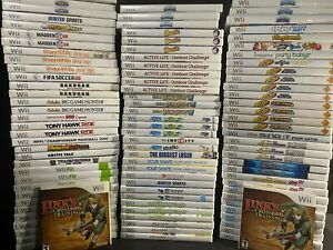 🔥💥 Wii GAMES HUGE LOT YOU PICK EM Wii GAMES CLEANED AND TESTED. LETS DO THIS!!