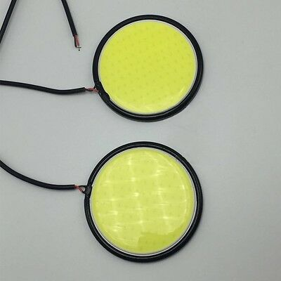 67MM COB LED Car Lamp White DRL Daytime Running Lamp Round Light 2 PCS AU