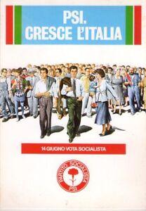P-S-I-PARTITO-SOCIALISTA-ITALIANO-CARTOLINA-DI-PROPAGANDA-ANNI-039-80