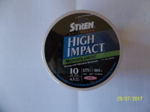 STREN HIGH IMPACT SALTWATER MONOFILAMENT LINE 10 LB 1275 YARDS PINK