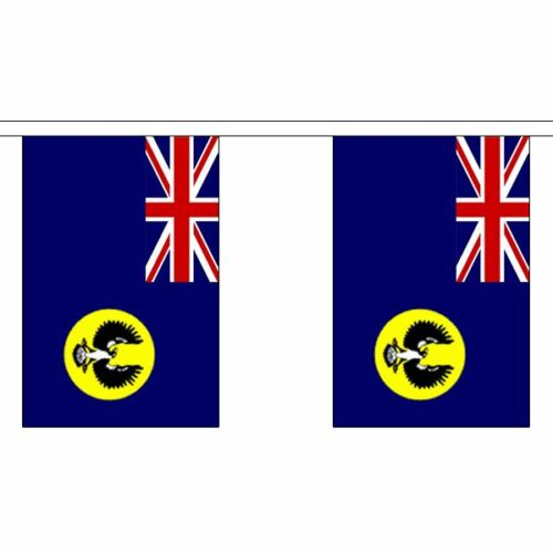 South Australia Flag Bunting 3m 6m 9m Metre Length 10 20 30 Flags Polyester