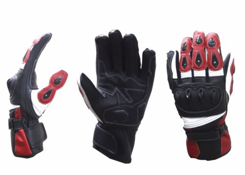 Motorcycle Motorbike Italian TPU Knuckle Protection Professional Leather Gloves