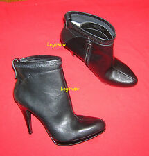 "Nine West Black Ankle Boots Womens 10 Shoes 4.5"" Heels New Leather .5"" Platform"