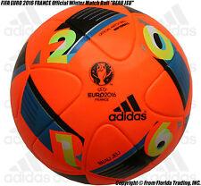 """FIFA EURO 2016 FRANCE Official Winter Match Ball """"BEAU JEU""""(5)adidas Soccer Ball"""
