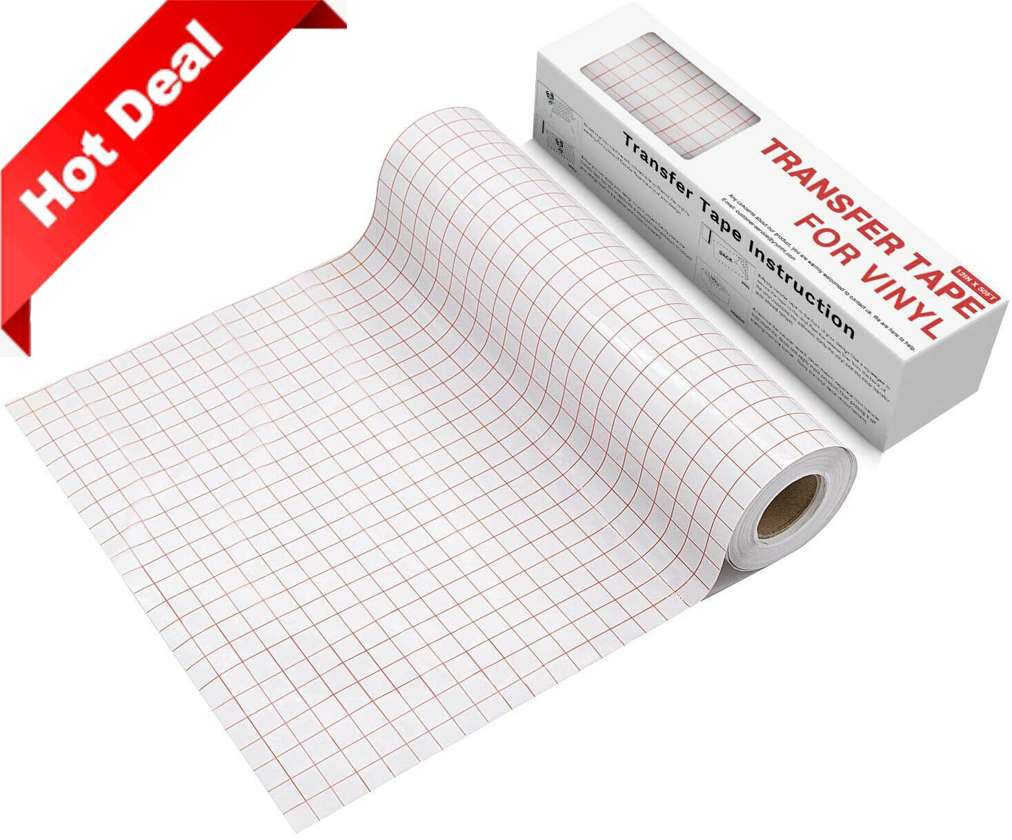 """Image Transfer Tape Adhesive Vinyl Roll for Wall Window Craft Clear 12/""""x50yds"""