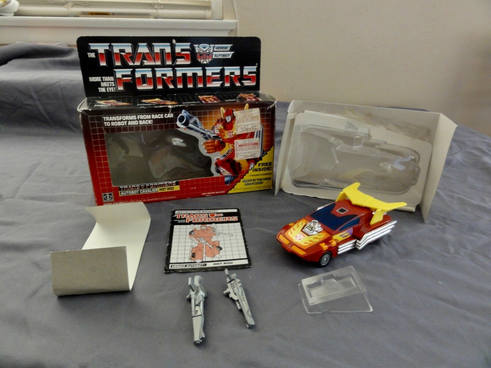 Transformers Generation One Autobot Hot Rod Caja Mib 100% Completo