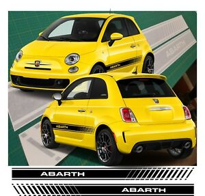 Fiat 500 595 Abarth Side Stripes Graphics Decals Stickers Vinyls any
