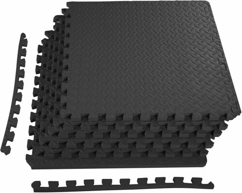 Puzzle Exercise Mat with EVA Foam Interlocking Tiles for Exercise MMA Home Gym