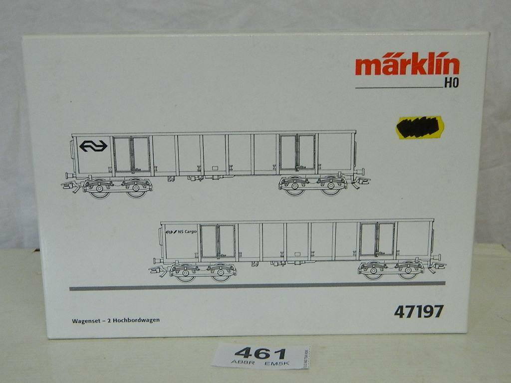 HO Gauge NS/NS Cargo 2pc Wagon Set High Sided Gondolas Box 47197  A