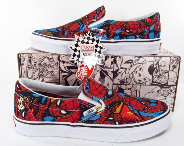 Vans x Marvel Avengers Spiderman Classic Slip On Sneakers Spider Man Slip On