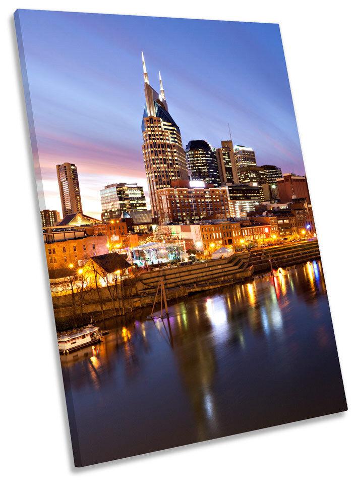 Nashville Tennessee horizonte de la la la ciudad enmarcado LONA parojo arte Foto impresión 607e9e