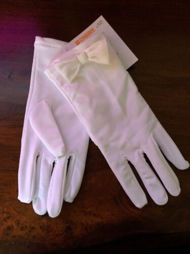 NWT Gymboree~White Stretchy Dress Gloves  Size M 5-7 Yrs Communion Cotillion