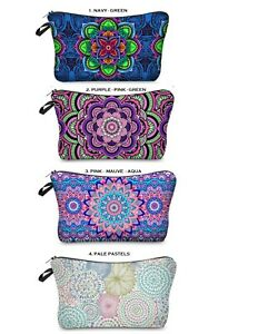 Cosmetic-Make-up-Bag-034-Aussie-Seller-034-Mandala-Toiletry-Bag-Pencil-Case-Purse