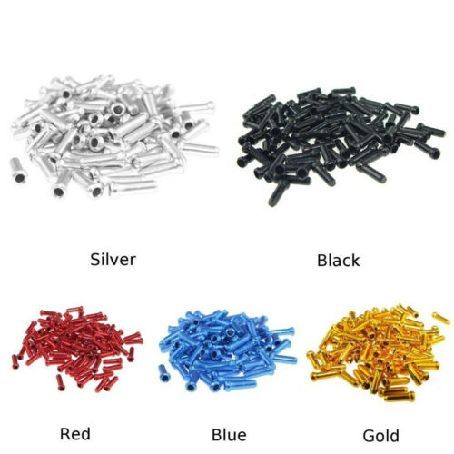 100PCS Bike Bicycle Cable End Caps Brake Shifter Derailleur Inner Tips Crimps