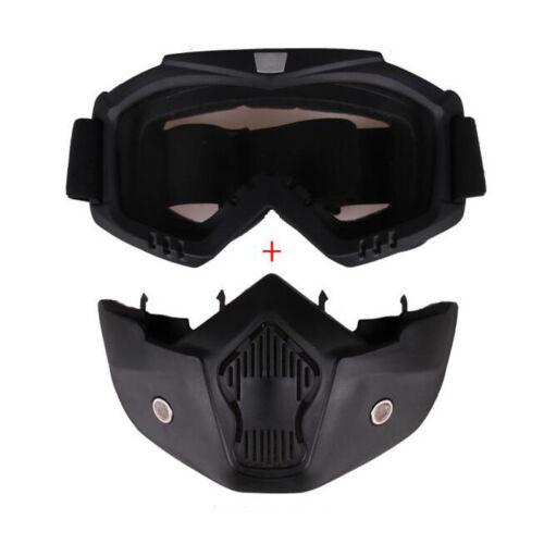 Motorcycle Helmet Motocross Modular Mask Detachable Filter Mouth Goggles Eyewear