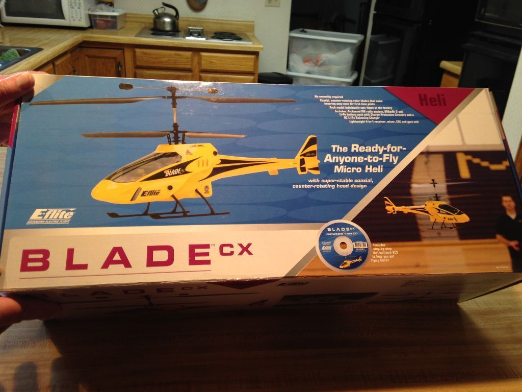 New R C E-Flite Blade CX RTF Helicopter - Ready To Fly Electric Version